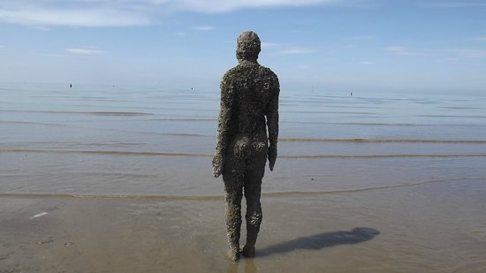 The Statues On Crosby Beach