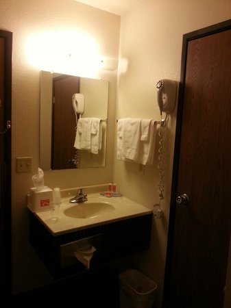 Econo Lodge: Sink/mirror area