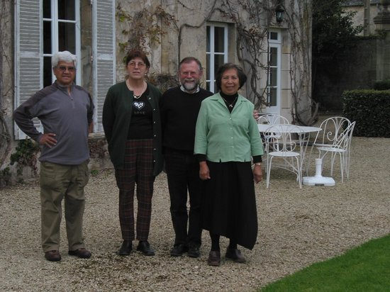 Castel Provence: With our hosts.