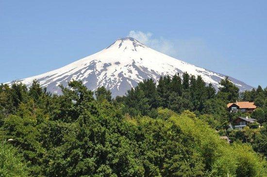 Mirador los Volcanes: Essa era a vista da varanda da cabana no Mirador