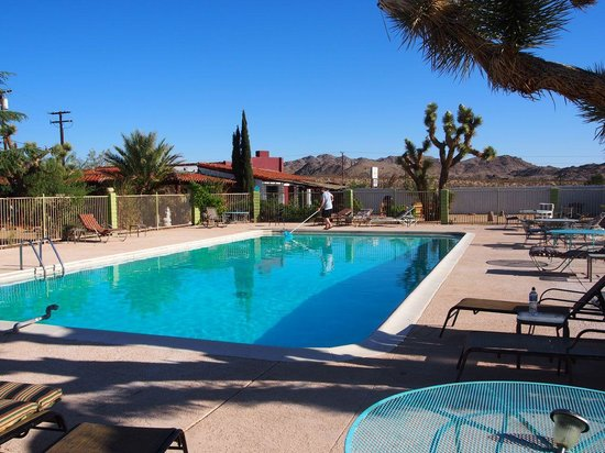 Joshua Tree Inn: The pool was great to cool off in after a long drive