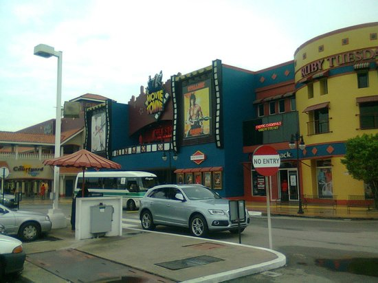 Movie Towne: The theater entrance