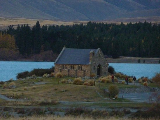 The Godley Hotel: lake and church