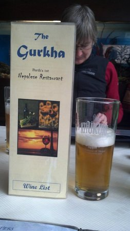 The Gurkha Nepalese Restaurant: And excellent Nepalese beer too.