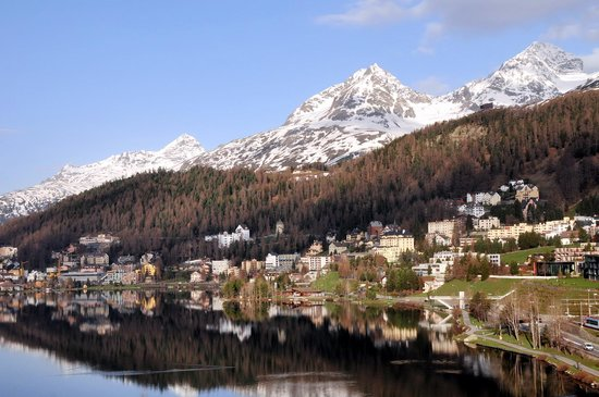 Hotel Waldhaus Am See: A view of St. Moritz