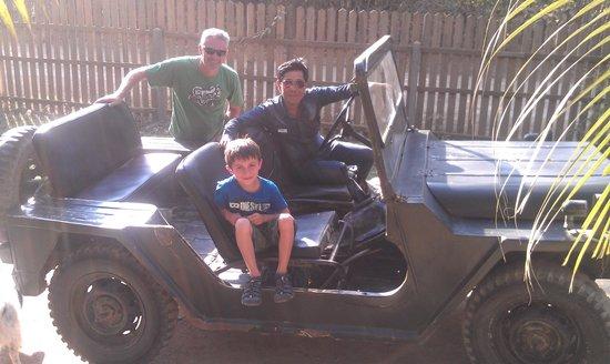 Khoun & Khone Bungalows: With Khoun in his jeep