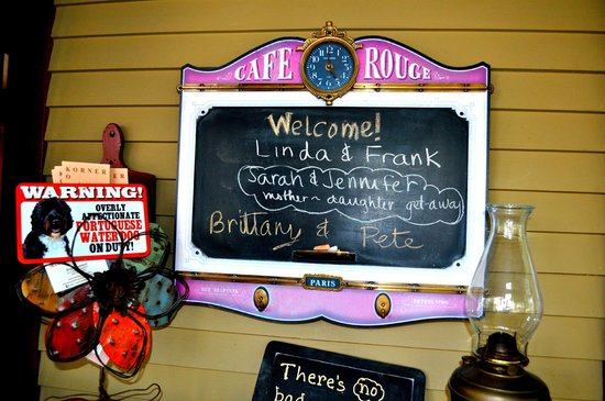 Korner Kottage Bed & Breakfast: Welcome Sign