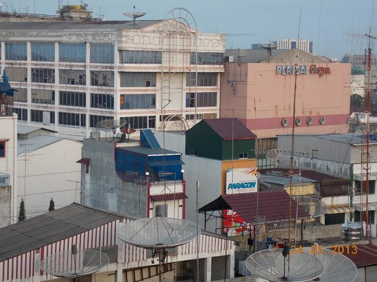 Soechi International Hotel: The view from our room (NO.808)