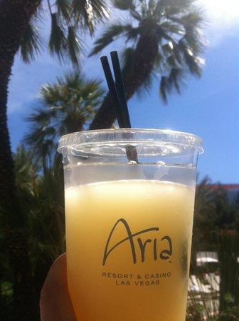 ARIA Resort & Casino: Drinks at the pool