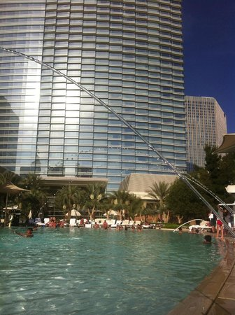 ARIA Resort & Casino: View from one of the pools