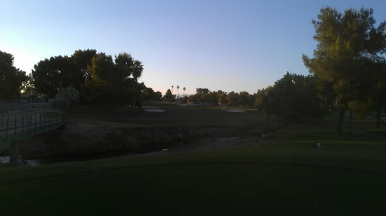 Las Vegas National Golf  Club: Very challenging Par 4, green is elevated and heavily guarded by deep bunkers.
