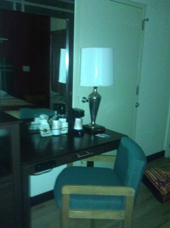 Red Roof Inn Houston - Brookhollow: tacky chair and lamp