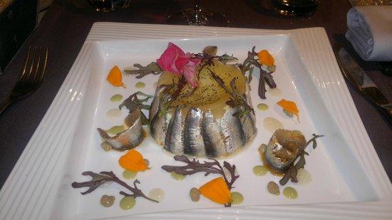 Le SEn'S : anchois au Saté en bavarois.....