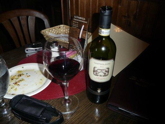 La Famiglia: delicious wine
