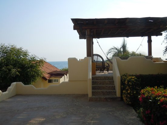 Hotel Casa de las Iguanas: Terraza / Sea view terrace