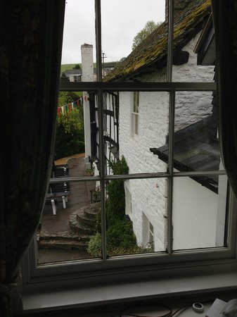Rhydspence Inn: View from room 7 from the desk - good place to work