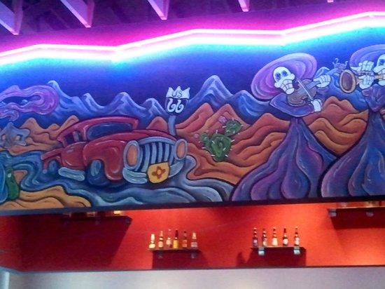 Plaza Cafe Southside: Over the bar art 2
