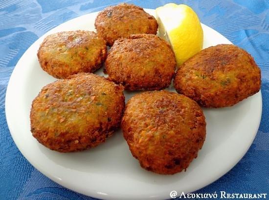 Lefkiano Restaurant : Fried chickpea balls!  #Lefkiano