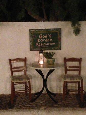 God's Garden : on the opposite side of the restaurant