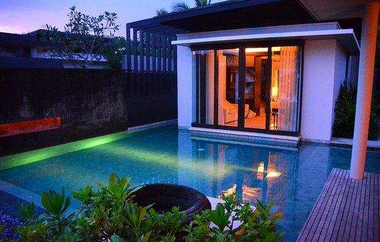 Alila Villas Soori: Villa Pool at Twilight