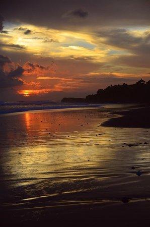 Soori Bali: Sunset on the Black Sand Beach