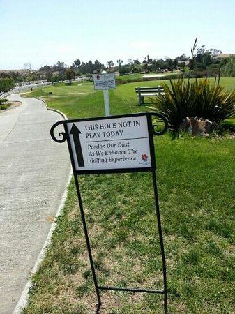 Encinitas Ranch Golf Course: Hole #17 closed for repair on May 28, 2013.