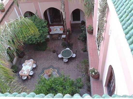 Riad Amina: riad vista dalla terrazza