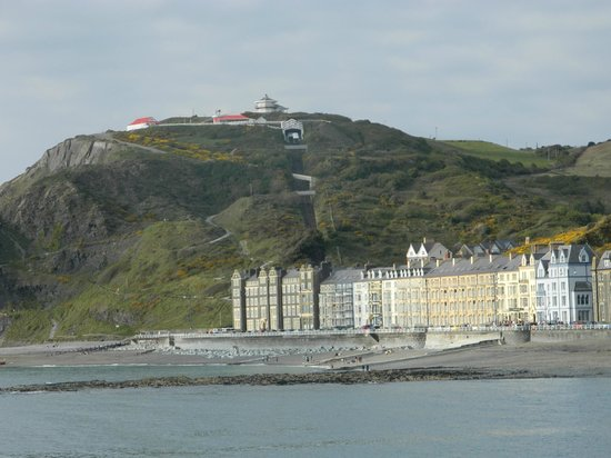 Belle Vue Royal Hotel: Constitution Hill + the Cliff Railway from the Beach
