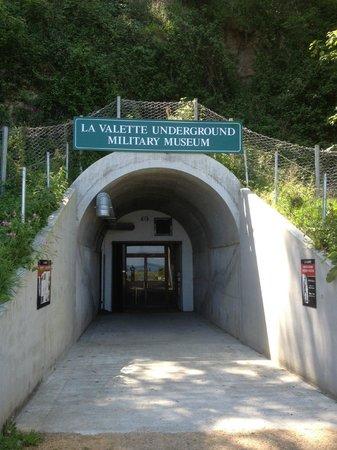 La Vallette Underground Military Museum: La Vallette entrance