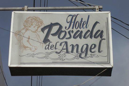 Hotel Posada del Ángel: hotel sign