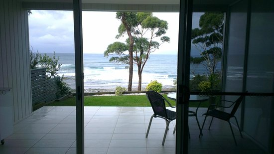Mollymook Beach Waterfront: View from inside