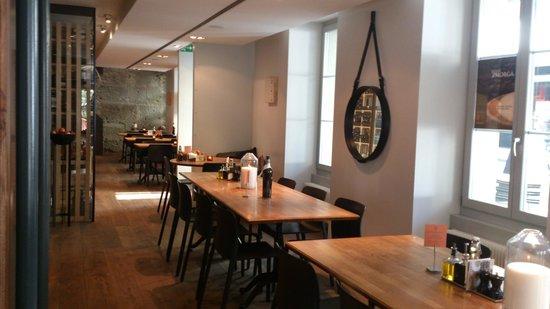Restaurant Sassafraz: l'intérieur