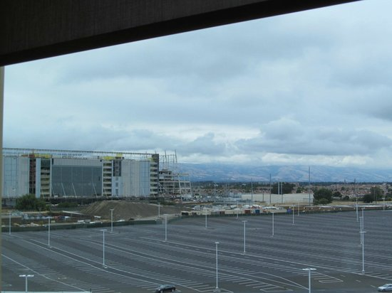 Hilton Santa Clara: View of new 49er's stadium from concierge lobby 8th floor