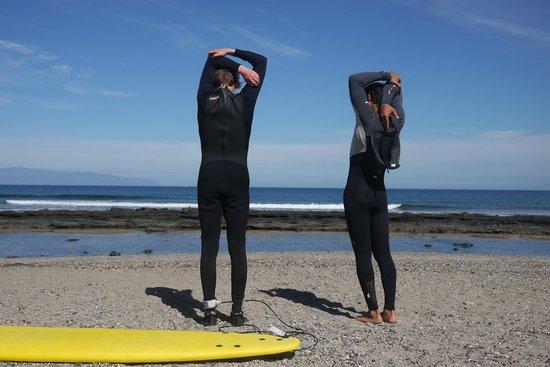 Pure Riders Surf camp: Echauffements