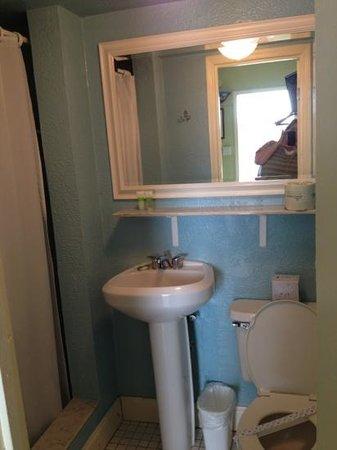 Sea Dell Motel: our bathroom was cute, but small.