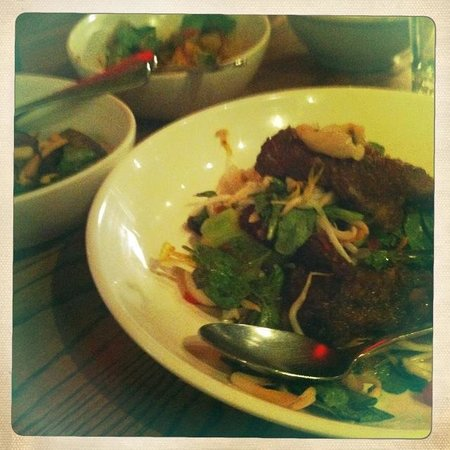 Red Spice Road: Quail and Lychee Salad