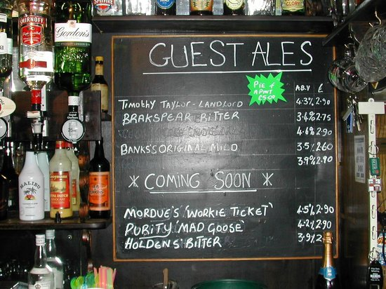 The Dog Inn: GUEST ALES change weekly