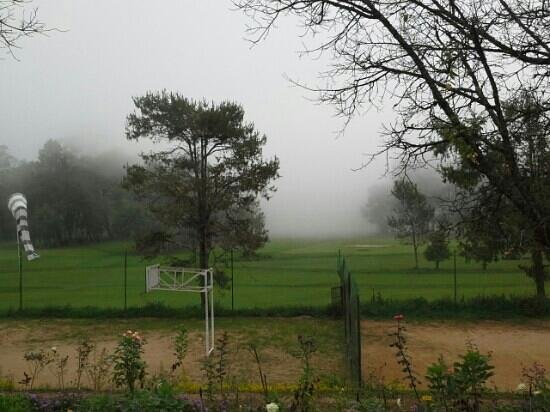 High Range Club: View of the golf course on a misty morning