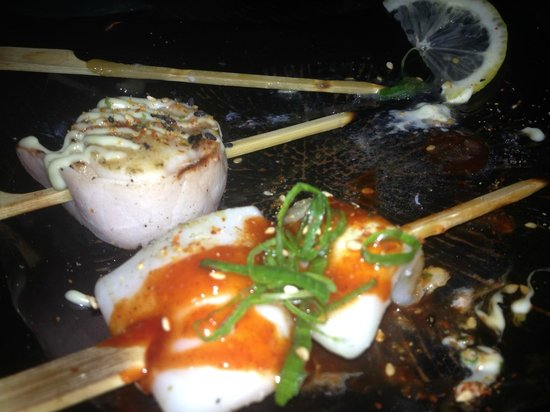 Pabu Grill & Sake: Skewers from the grill
