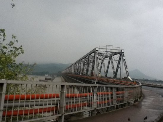 Scenic beauty around the saraighat bridge on a rainy day