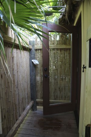Little Palm Island Resort & Spa, A Noble House Resort: Outdoor Shower - The suite also had an indoor shower