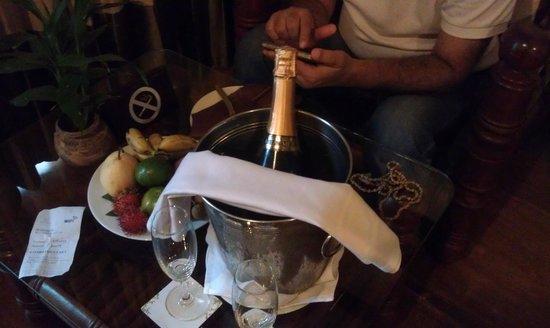 Borei Angkor Resort & Spa: Complimentary wine