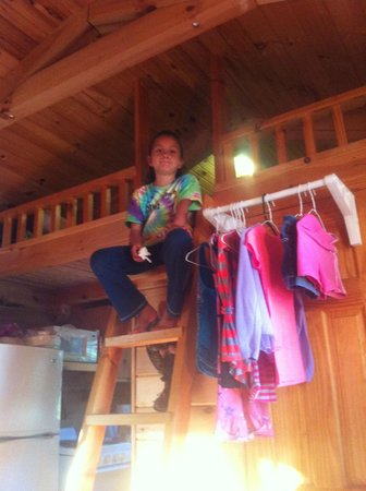 Sky Island Retreat & Campground: The loft in the cabin!