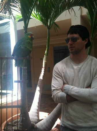 Quality Inn Oceanfront: My beau and Coconut! :-)