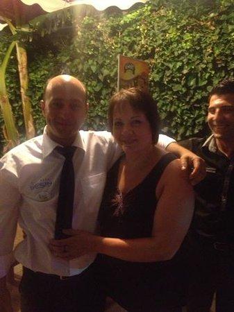 Sesin Hotel : my mum and the friendly waiter