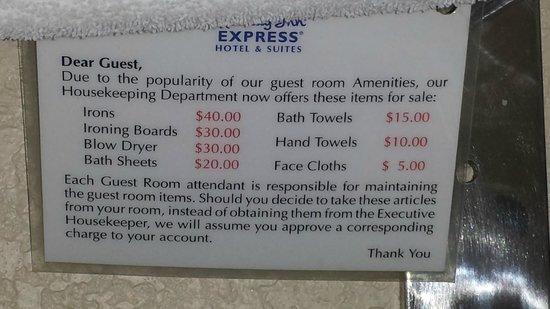 Holiday Inn Express Hotel & Suites Nashville - I-40 & 1-24 (Spence Lane) : Fees