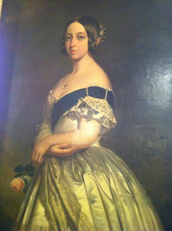 Victoria Hall: Winterhalter's portrait of Queen Victoria, c 1844.
