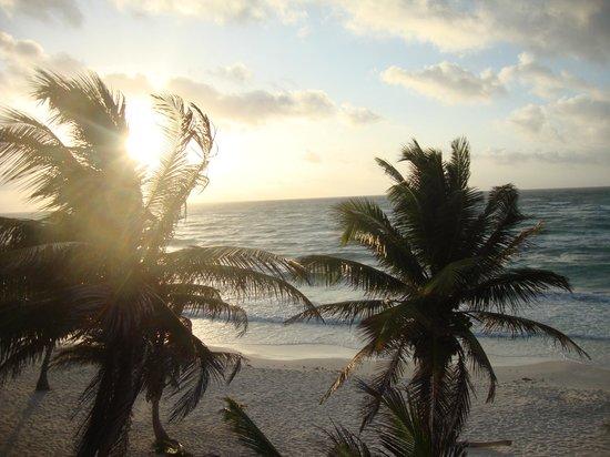 The Beach Tulum : sunrise on our balcony.