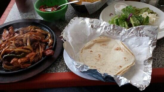 Puerto Vallarta: Pretty good food.  Had the fajitas, different from what I have had before but good.