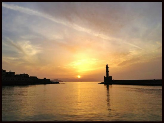 Old Venetian Harbor : Sunset from the Harbour